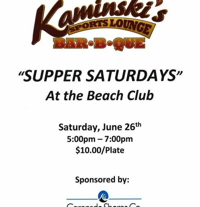 """Bar B Que – """"Supper Saturdays"""""""