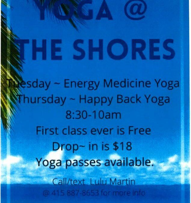Yoga At The Shores – Thursday 8:30 – 10 am